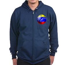 Venezuela Soccer Zip Hoodie