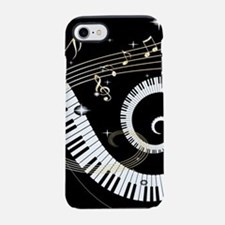 Piano and musical notes iPhone 7 Tough Case