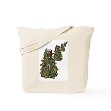 BEAR CHRISTMAS TREES Tote Bag