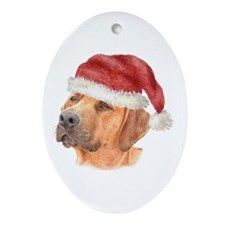 Christmas Rhodesian Ridgeback Oval Ornament