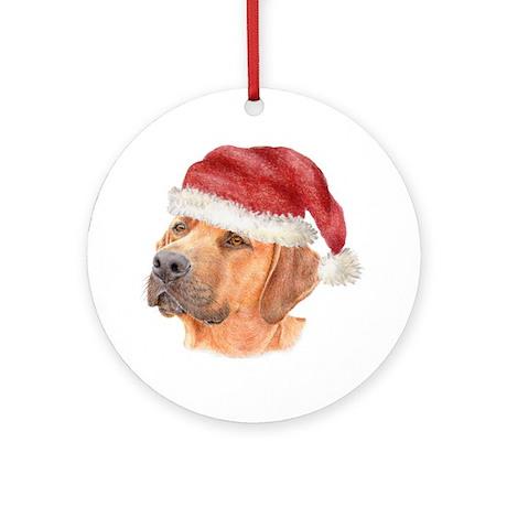 Christmas Rhodesian Ridgeback Ornament (Round)