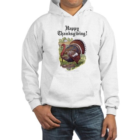 Antique Thanksgiving Turkey Hooded Sweatshirt