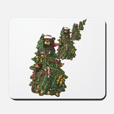 BEAR CHRISTMAS TREES Mousepad