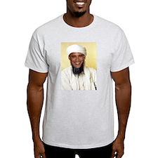 Barack Obama Bin Laden Ash Grey T-Shirt