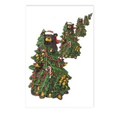 BEAR CHRISTMAS TREES Postcards (Package of 8)
