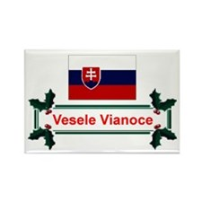 Slovak Vesele Vianoce Rectangle Magnet
