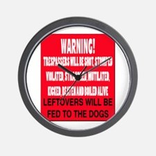 Trespasser Warning Wall Clock