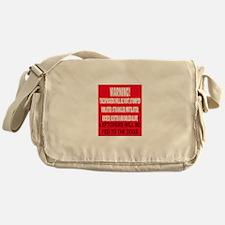 Trespasser Warning Messenger Bag