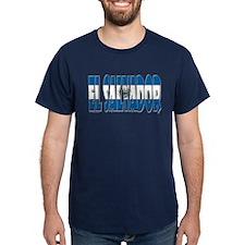 Word Art Flag of El Salvador T-Shirt