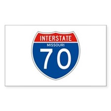 Interstate 70 - MO Rectangle Decal