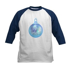 First Christmas (blue) Kids Baseball Jersey