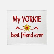 Yorkie Best Friend Throw Blanket
