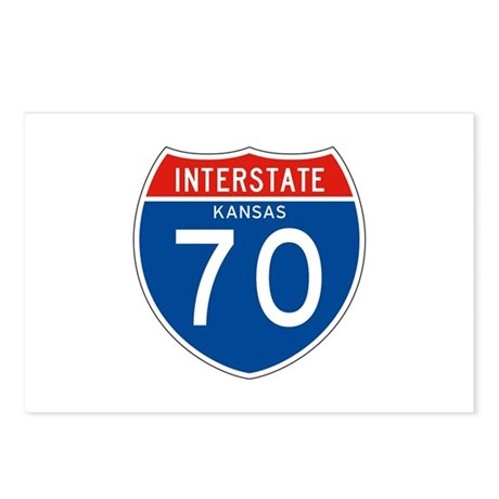 Interstate 70 - KS Postcards (Package of 8)