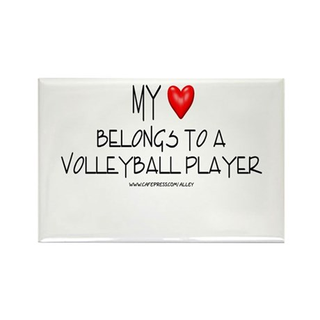 My Heart Volleyball Rectangle Magnet