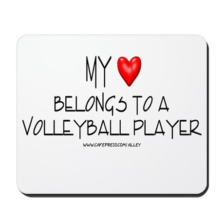 My Heart Volleyball Mousepad