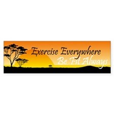 TOP Exercise Everywhere Bumper Sticker