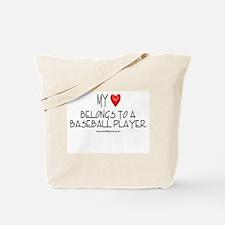 My Heart Baseball Tote Bag