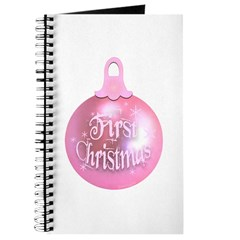 First Christmas (pink) Journal