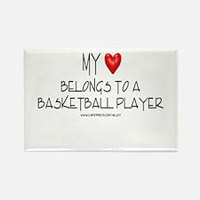My Heart Basketball Rectangle Magnet