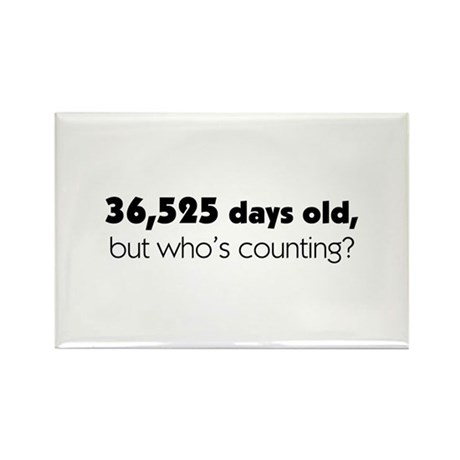100th Birthday Rectangle Magnet (100 pack)