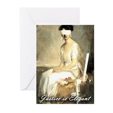 Justice is Elegant Greeting Cards (Pk of 10)