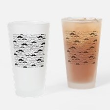 Mustache Black Drinking Glass
