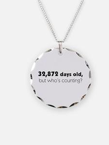 90th Birthday Necklace