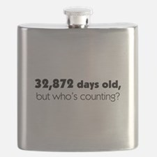 90th Birthday Flask