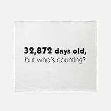 90th Birthday Throw Blanket