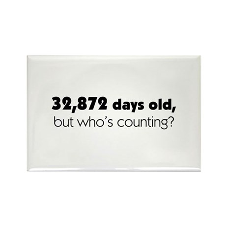 90th Birthday Rectangle Magnet (100 pack)