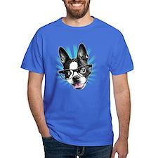 Cute! Hipster Boston Terrier T-Shirt