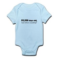 80th Birthday Infant Bodysuit