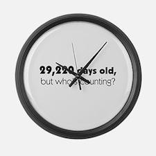 80th Birthday Large Wall Clock