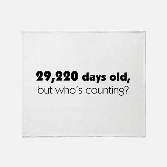 80th Birthday Throw Blanket