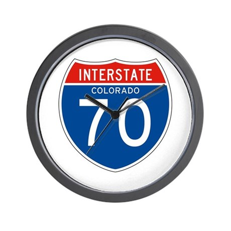 Interstate 70 - CO Wall Clock