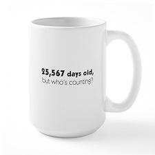 70th Birthday Ceramic Mugs
