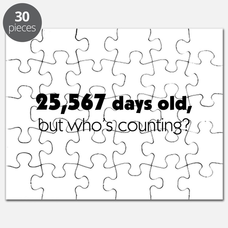 70th Birthday Puzzle