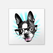 Cute! Hipster Boston Terrier Sticker