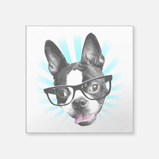 Cute! Hipster Boston Terrier Sticker