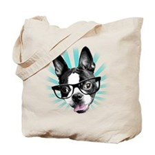 Cute! Hipster Boston Terrier Tote Bag