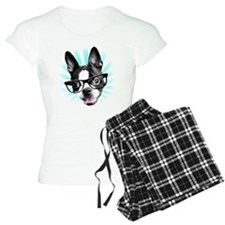 Cute! Hipster Boston Terrier Pajamas