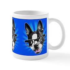 Cute! Hipster Boston Terrier Small Mugs