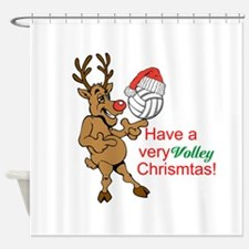 HAVE A VERY VOLLEY CHRISTMAS! Shower Curtain