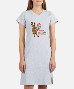 HAVE A VERY VOLLEY CHRISTMAS! Women's Nightshirt