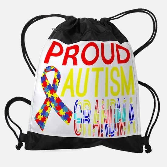 Proud Autism Grandma Awareness Drawstring Bag