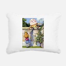 Alice and Humpty Dumpty Rectangular Canvas Pillow
