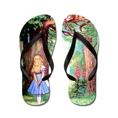 Alice & The Cheshire Cat Flip Flops