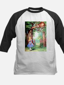 Alice & The Cheshire Cat Kids Baseball Jersey