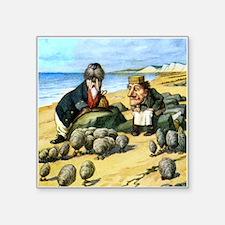 """The Carpenter and the Walrus Square Sticker 3"""" x 3"""