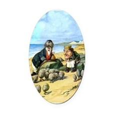The Carpenter and the Walrus Oval Car Magnet